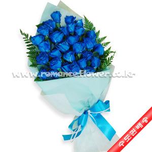파란장미다발 1호